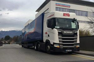 Delivering and Collecting at Ritschard in Geneva